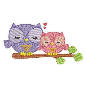 Owl Mom (Quick Stitch) Embroidery Design