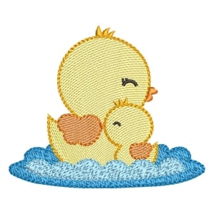Duckling Mom (Quick Stitch) Embroidery Design