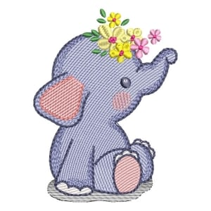 Baby Elephant (Quick Stitch) Embroidery Design