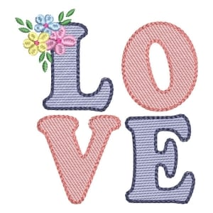 Love (Quick Stitch) Embroidery Design