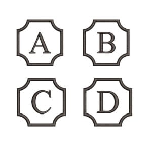 Alphabet Monogram Embroidery Design Pack