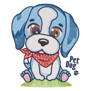 Puppy (Quick Stitch) Embroidery Design