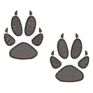 Fox paw (Quick Stitch) Embroidery Design