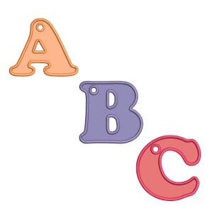 Key Chain Alphabet Embroidery Design Pack