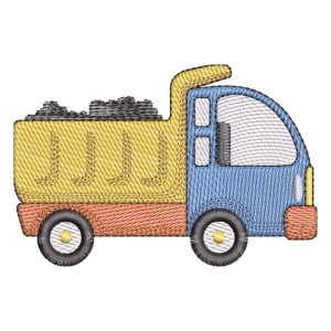 Truck (Quick Stitch) Embroidery Design