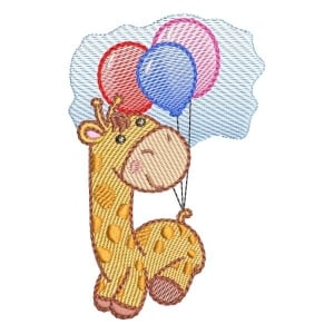 Cute Giraffe (Quick Stitch) Embroidery Design