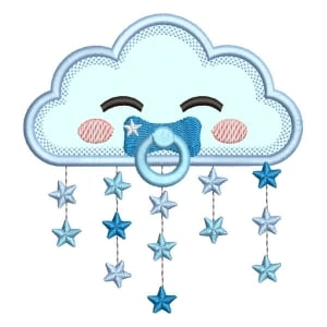 Baby Cloud (Applique) Embroidery Design