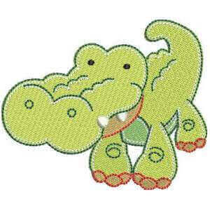 Reptile Embroidery Design