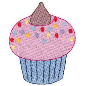 Matriz de bordado cupcake 3