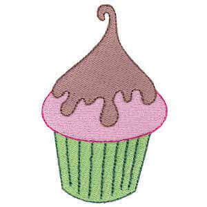 Matriz de bordado cupcake 6