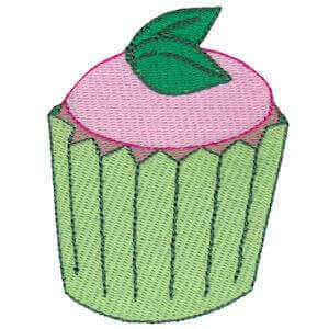 Matriz de bordado cupcake 8