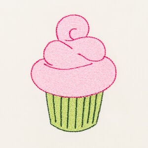 Matriz de bordado cupcake 9