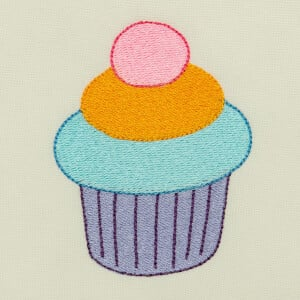 Matriz de bordado cupcake 10