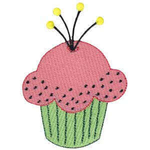 Matriz de bordado cupcake 27