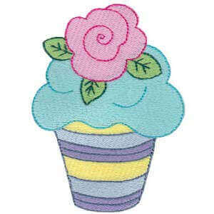 Matriz de bordado cupcake 31
