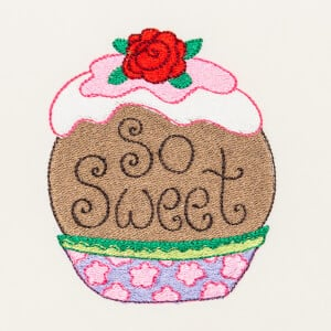 Matriz de bordado cupcake 33