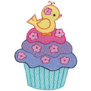 Matriz de bordado cupcake 34