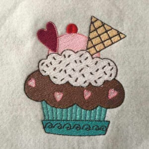 Matriz de bordado cupcake 36
