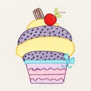 Matriz de bordado cupcake 43