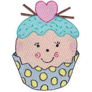 Matriz de bordado cupcake 45