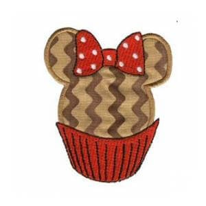 Matriz de bordado cupcake aplique 7