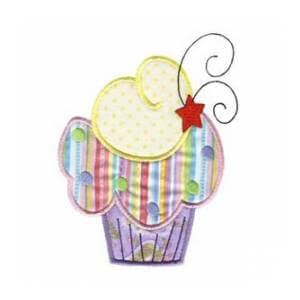 Matriz de bordado cupcake aplique 8