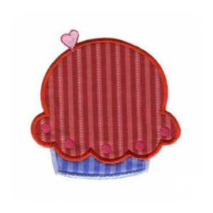 Matriz de bordado cupcake aplique 9