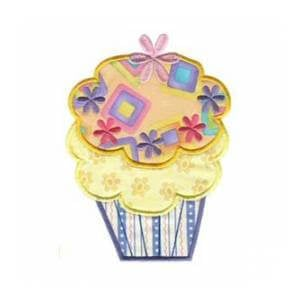 Matriz de bordado cupcake aplique 11