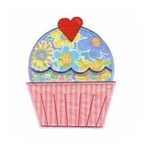 Matriz de bordado cupcake aplique 14