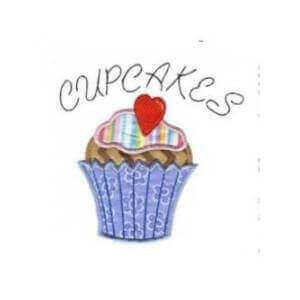 Matriz de bordado cupcake aplique 15