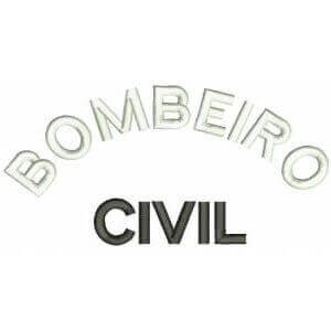 Matriz de bordado bombeiro civil