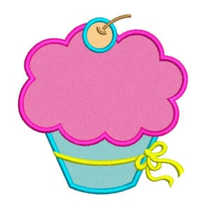 Matriz de bordado cupcake aplique 16