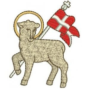 Lamb of God Embroidery Design