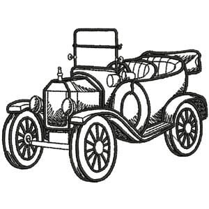 Matriz de bordado ford model T