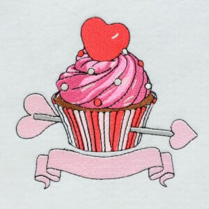 Matriz de bordado Cupcake 1