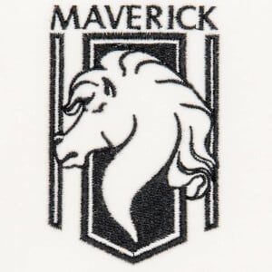 Matriz de bordado Maverick Logo