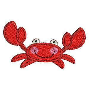 Crab Embroidery Design
