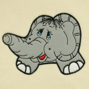 Matriz de bordado Elefante (aplique) 2
