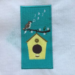 Bird in Spring Embroidery Design
