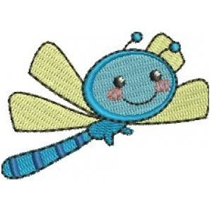 Dragon-fly Embroidery Design