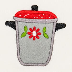 Kitchen applique Embroidery Design