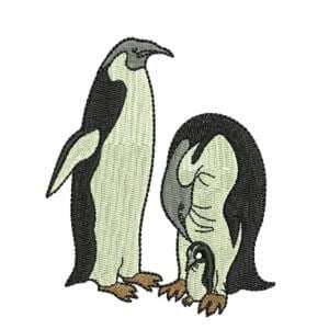 Matriz de bordado Pinguins