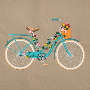 Bike Embroidery Design