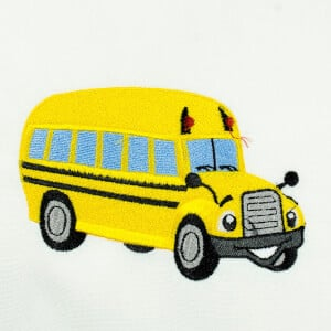 Bus Toy Embroidery Design