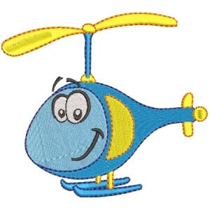 Helicopter Toy Embroidery Design