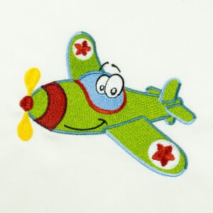 Plane Toy Embroidery Design