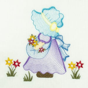Matriz de bordado sunbonnet rippled 8