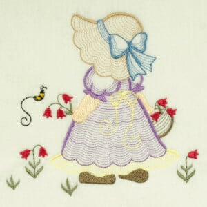 Matriz de bordado sunbonnet rippled 9