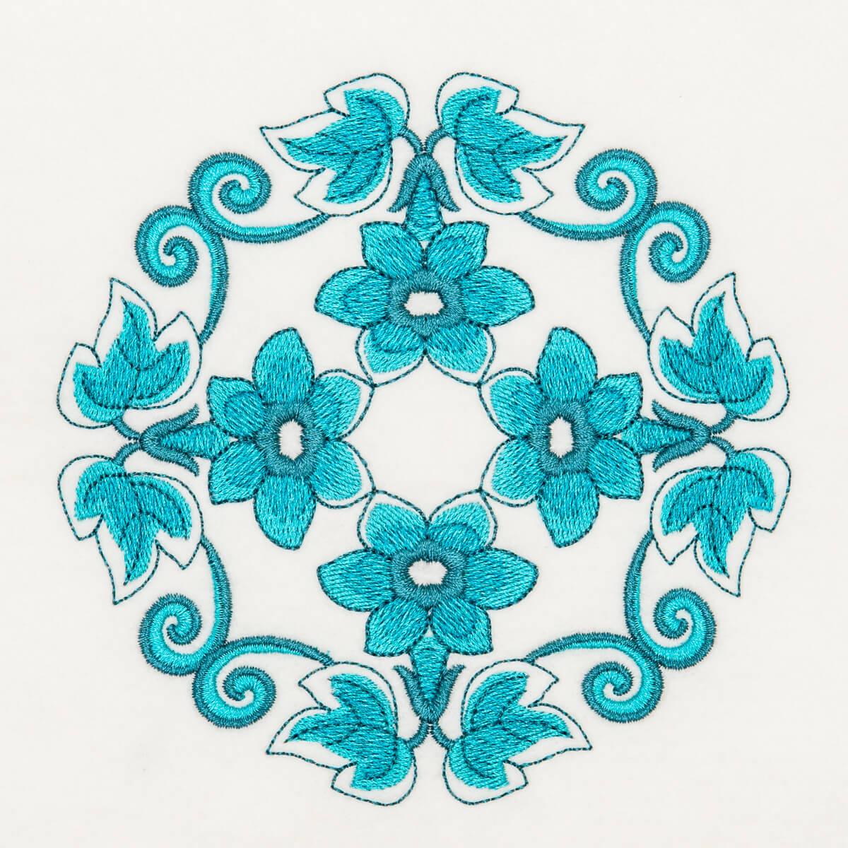 Matriz de bordado floral 549