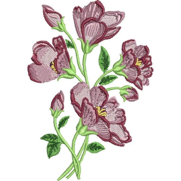 Matriz de bordado floral 558